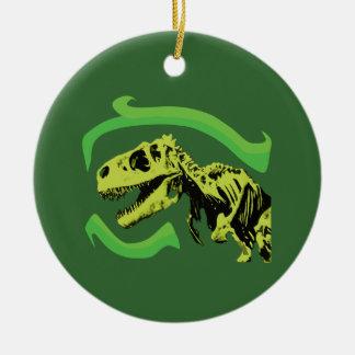 Tレックスの恐竜の骨組 セラミックオーナメント