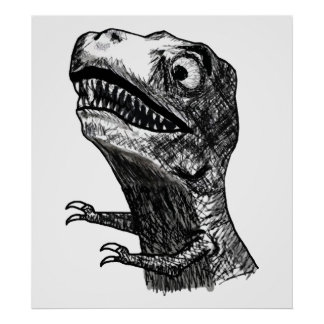 Tレックスの激怒のミーム-ポスター ポスター