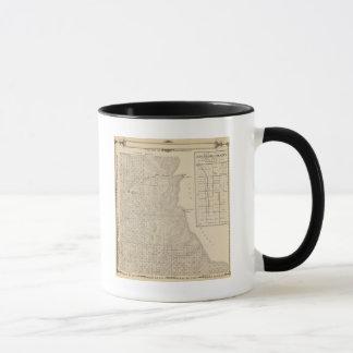 T1417S R3235E Tulare郡セクション地図 マグカップ