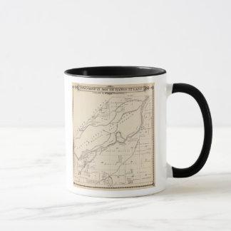 T17S R22E Tulare郡セクション地図 マグカップ