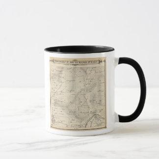 T17S R27E Tulare郡セクション地図 マグカップ