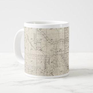 T1819S R2930E Tulare郡セクション地図 ジャンボコーヒーマグカップ