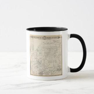 T18S R21E Tulare郡セクション地図 マグカップ