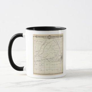 T18S R23E Tulare郡セクション地図 マグカップ