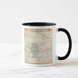 T18S R25E SW 1/4 Tulare郡セクション地図 マグカップ