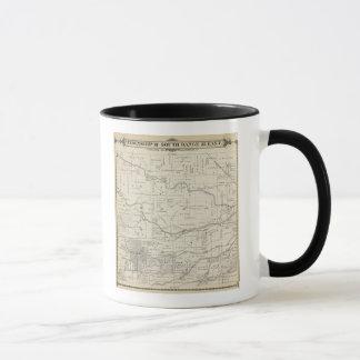 T18S R25E Tulare郡セクション地図 マグカップ