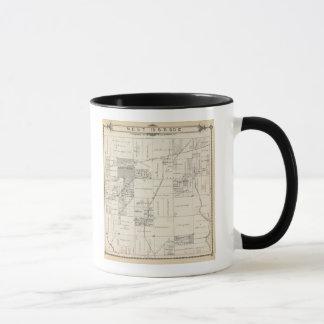 T19S R20E NE 1/4 Tulare郡セクション地図 マグカップ