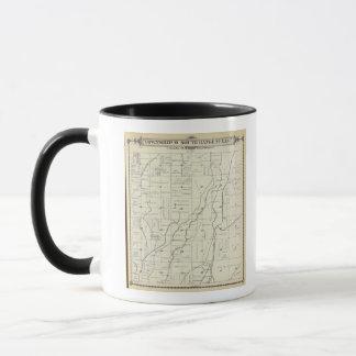 T19S R22E Tulare郡セクション地図 マグカップ