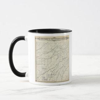 T19S R25E Tulare郡セクション地図 マグカップ