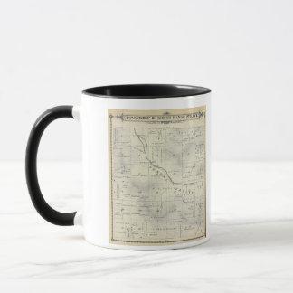 T19S R27E Tulare郡セクション地図 マグカップ