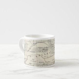 T19S R28E Tulare郡セクション地図 エスプレッソカップ