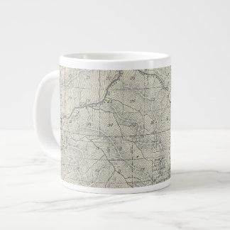 T2021S R3031E Tulare郡セクション地図 ジャンボコーヒーマグカップ