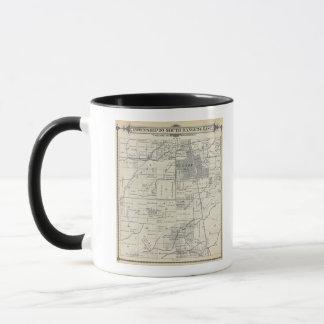 T20S R24E Tulare郡セクション地図 マグカップ