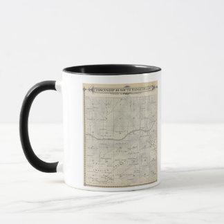T20S R28E Tulare郡セクション地図 マグカップ