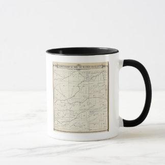T21S R24E Tulare郡セクション地図 マグカップ