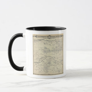 T22S R28E Tulare郡セクション地図 マグカップ