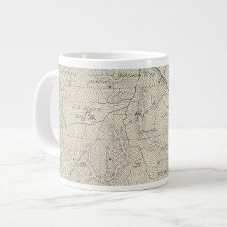 T22S R29E Tulare郡セクション地図 ジャンボコーヒーマグカップ