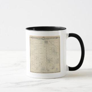 T23S R27E Tulare郡セクション地図 マグカップ