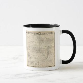 T23S R28E Tulare郡セクション地図 マグカップ