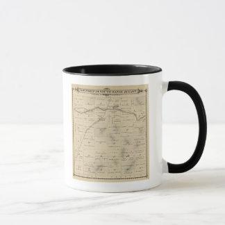 T24S R27E Tulare郡セクション地図 マグカップ