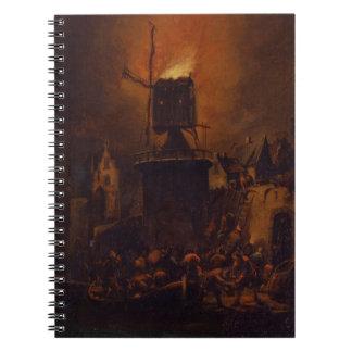 T30554A非常に熱い風車1662年(パネル) ノートブック