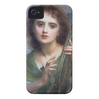 T31601リラ(パネル)を持つ女性 Case-Mate iPhone 4 ケース
