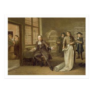 T32334衣服商人1690年のバイヤー ポストカード