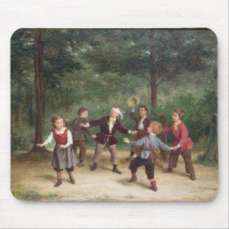 T33268盲人のもみ革91316me; 子供; 遊ぶこと マウスパッド