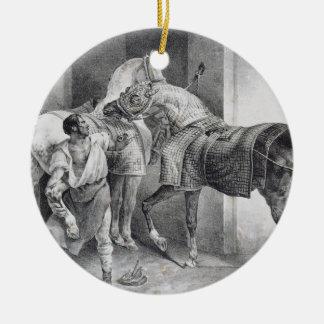 T34894英国の蹄鉄工1822年(litho) セラミックオーナメント