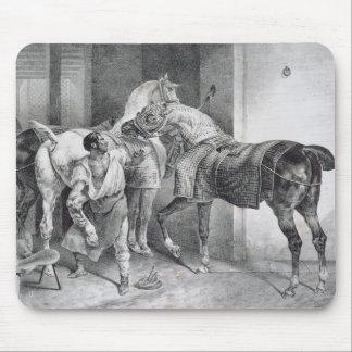 T34894英国の蹄鉄工1822年(litho) マウスパッド