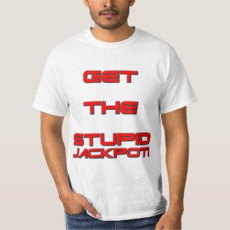 T3RMIN4TOR2 -愚かな大当たり-両面に得て下さい Tシャツ