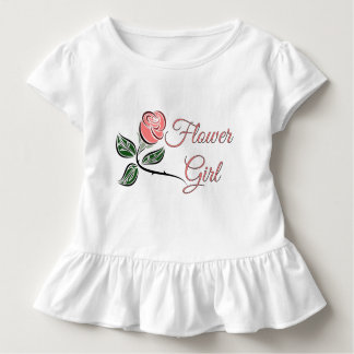 T-の服を結婚するフラワー・ガールの幼児のひだ トドラーTシャツ
