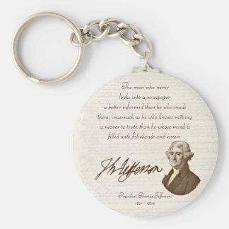 T.ジェファーソン: 真実及び新聞- Keychain キーホルダー