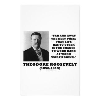 T.ルーズベルトPrizeのチャンスの仕事のハードワークのすること 便箋
