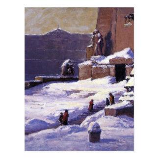 T.C. Steele著雪の記念碑 ポストカード