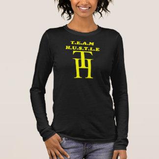 T.E.A.M H.U.S.T.L.Eの長袖(前部及び背部) 長袖Tシャツ