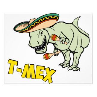 T-MexのTレックスのメキシコティラノサウルス・レックスの恐竜 チラシ