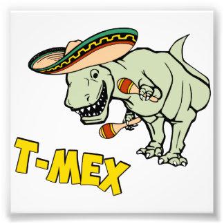 T-MexのTレックスのメキシコティラノサウルス・レックスの恐竜 フォトプリント