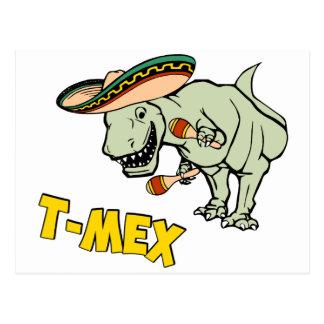 T-MexのTレックスのメキシコティラノサウルス・レックスの恐竜 ポストカード
