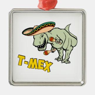 T-MexのTレックスのメキシコティラノサウルス・レックスの恐竜 メタルオーナメント