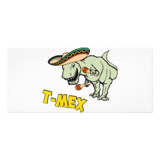 T-MexのTレックスのメキシコティラノサウルス・レックスの恐竜 ラックカード