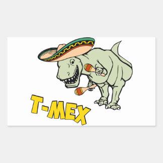 T-MexのTレックスのメキシコティラノサウルス・レックスの恐竜 長方形シール