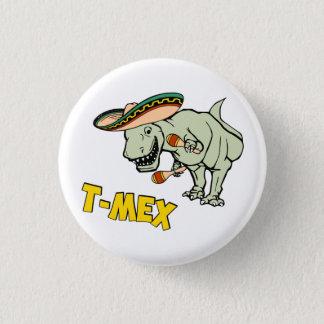 T-MexのTレックスのメキシコティラノサウルス・レックスの恐竜 3.2cm 丸型バッジ