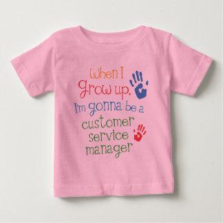 T SHカスタマーサービスのマネージャー(未来)の幼児ベビー ベビーTシャツ