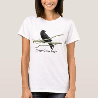 T-shirt熱狂するなカラスの女性 Tシャツ