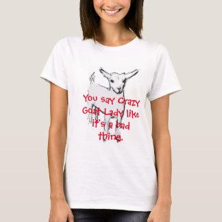 T-Shirt熱狂するなヤギの女性 Tシャツ
