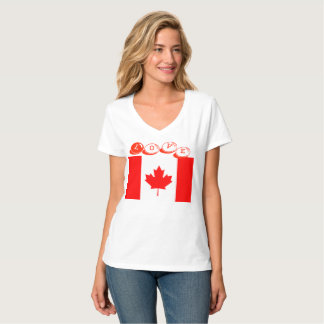 T-shirts- love Canada designed Tシャツ