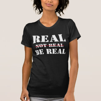 T-shirts /Real, Not real, Be real text design, Tシャツ