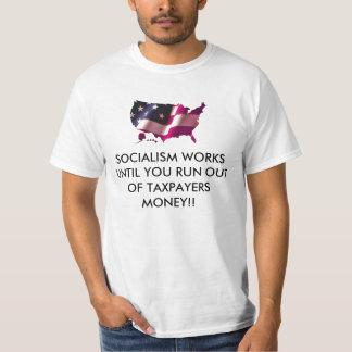 TAを…使い果たすまでbigusa、社会主義は働きます Tシャツ