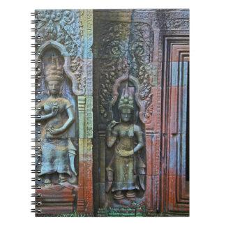Ta Prohmの寺院、シェムリアップ地域、カンボジア ノートブック